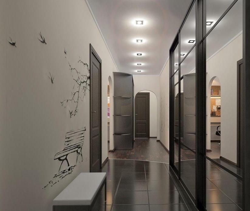 натяжной потолок в коридоре виды фото