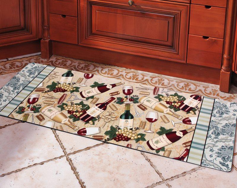 Нейлоновый коврик на керамическом полу