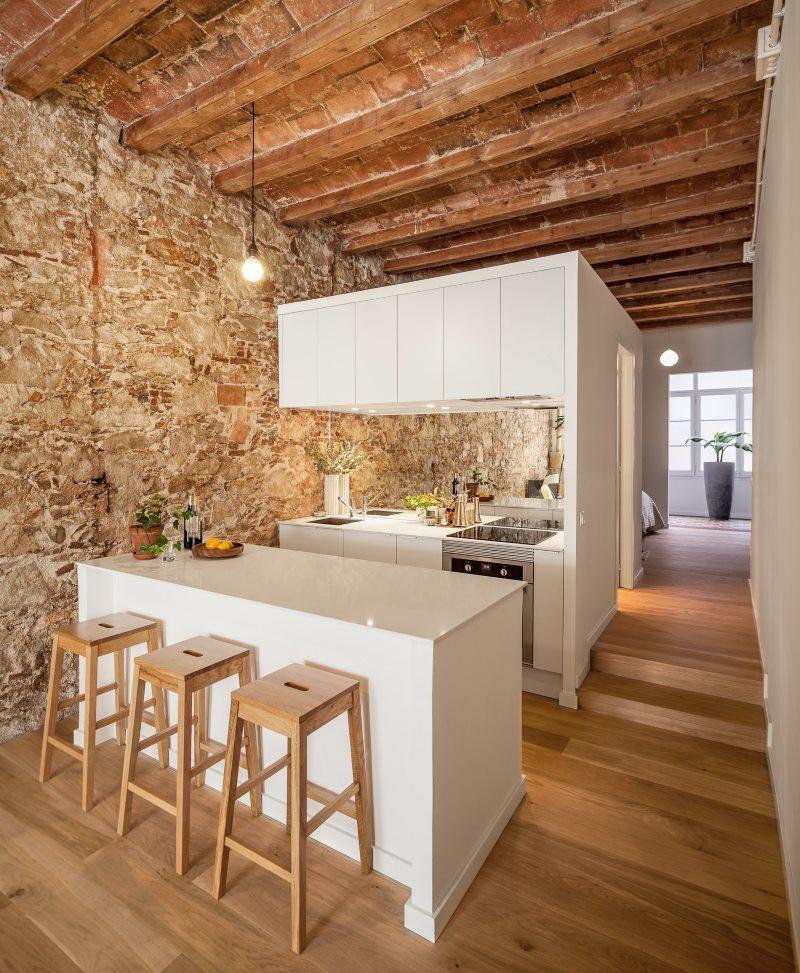 Модульная кухня в частном доме
