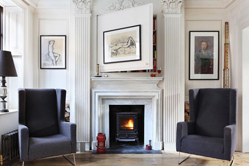 стиль неоклассика в интерьере квартиры фото интерьера