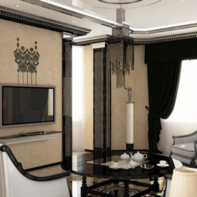 обои для современной гостиной идеи декора