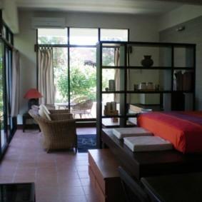 однокомнатная квартира с кроватью и диваном фото варианты
