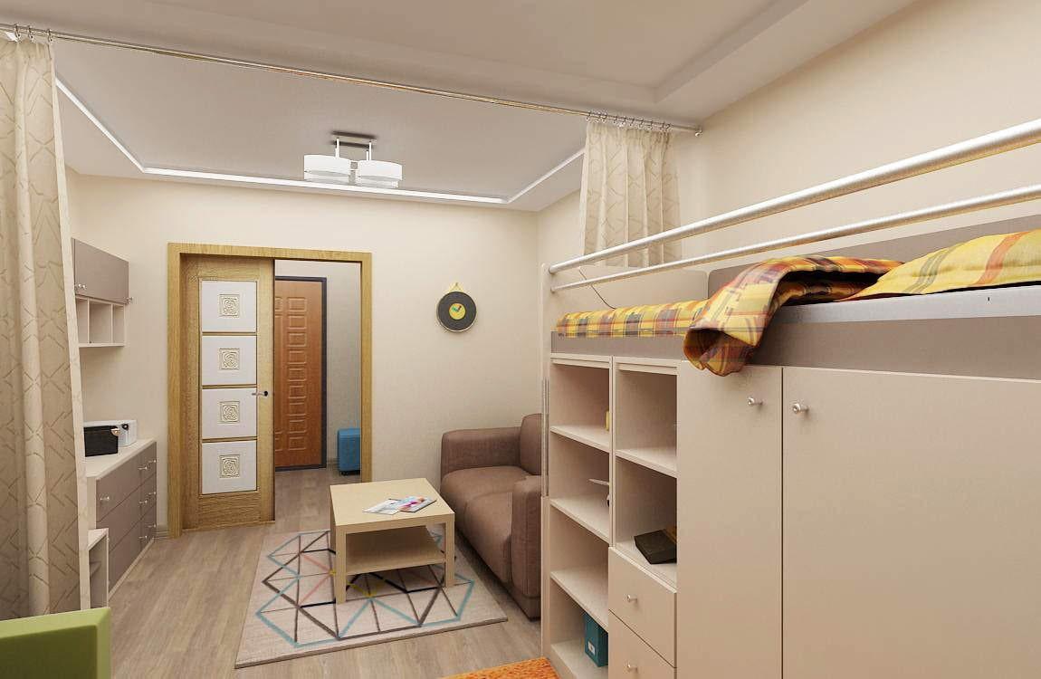 как можно обустроить однокомнатную квартиру с ребенком