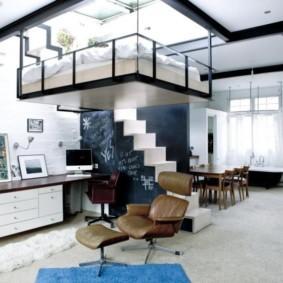 однокомнатная квартира в стиле лофт фото дизайна