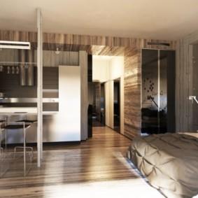 однокомнатная квартира в стиле лофт фото интерьер