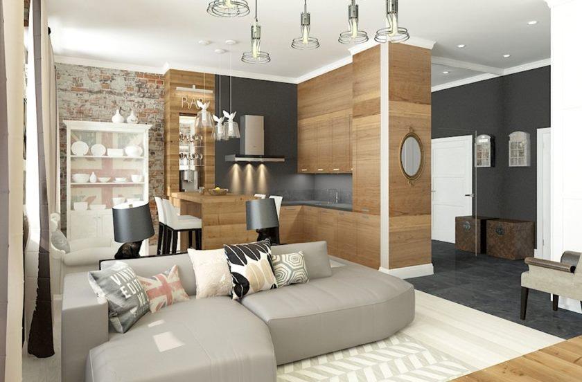 однокомнатная квартира в стиле лофт фото интерьера