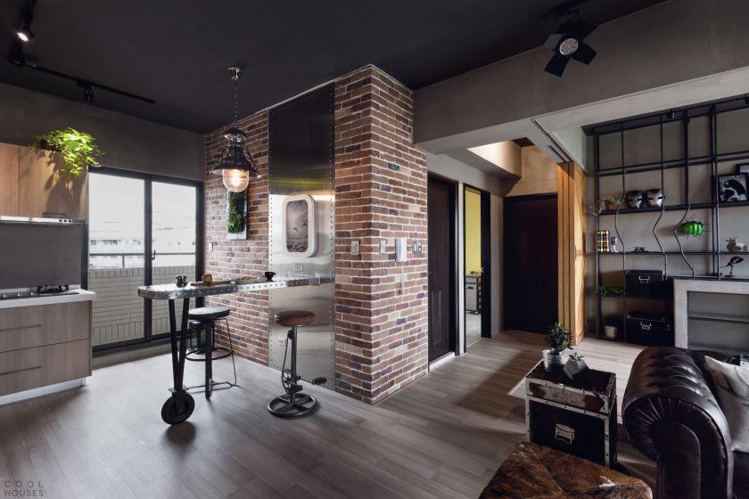 однокомнатная квартира в стиле лофт идеи дизайна