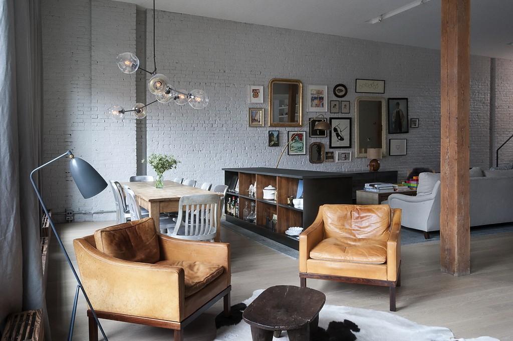 однокомнатная квартира в стиле лофт декор