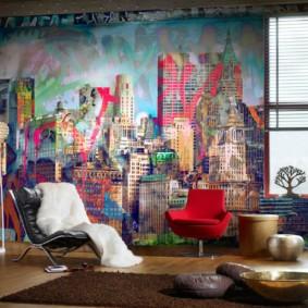 однокомнатная квартира в стиле лофт фото декора