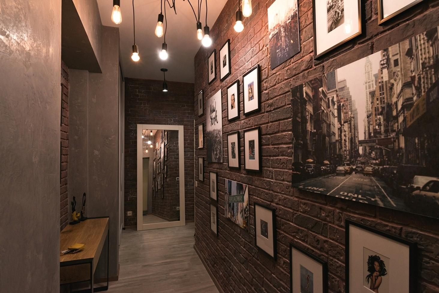 однокомнатная квартира в стиле лофт фото идеи