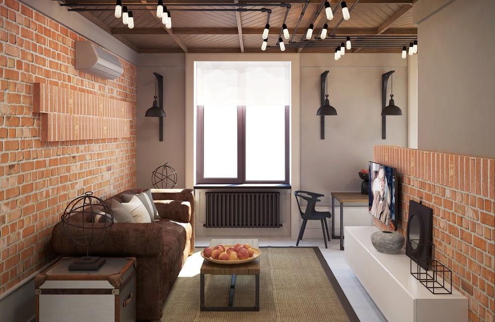 однокомнатная квартира в стиле лофт идеи декора