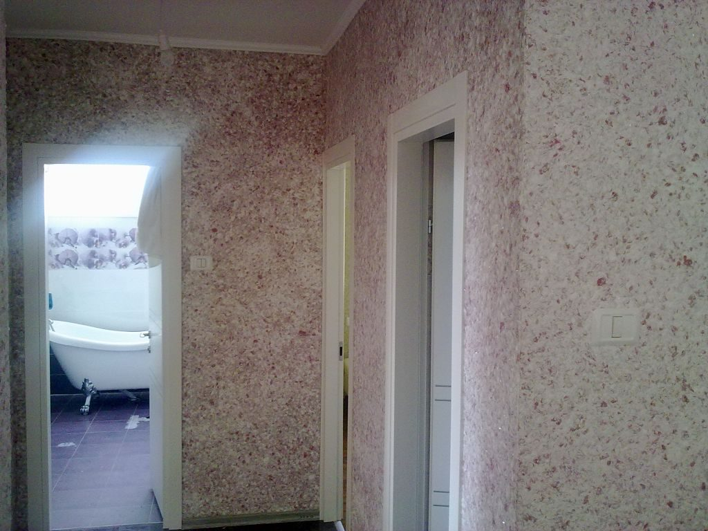 муками был жидкие обои для коридора фото несколько