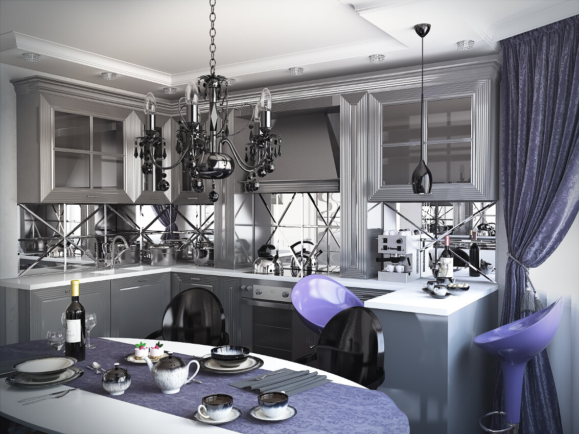 дизайн кухни 2019 арт деко