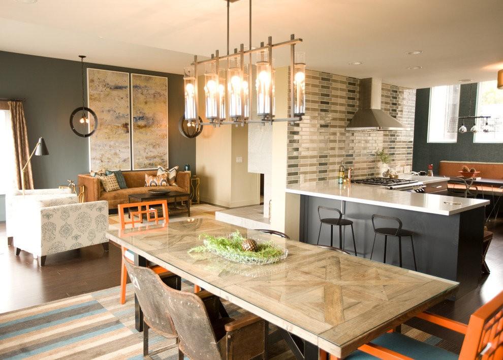 Светильник над обеденным столом кухни