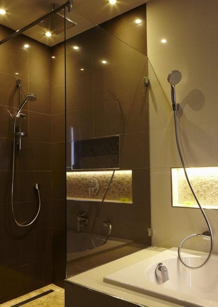 Декоративное освещение ванной в стиле минимализма