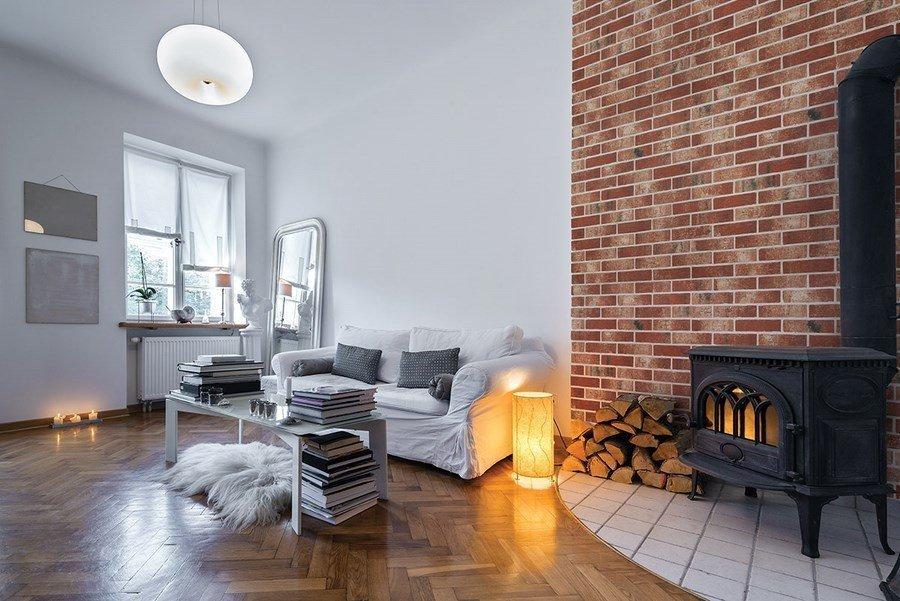 отделка квартиры под декоративный кирпич фото дизайн