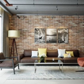 отделка квартиры под декоративный кирпич интерьер фото