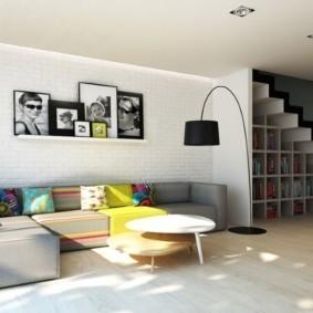 отделка квартиры под декоративный кирпич виды интерьера