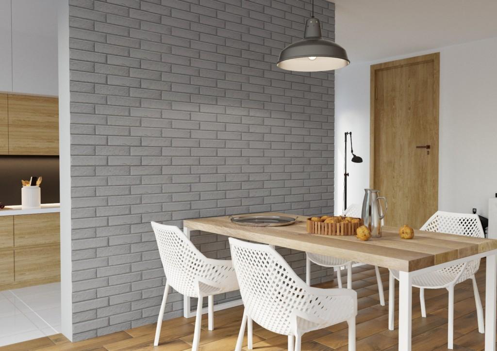 белые кирпичики на стену