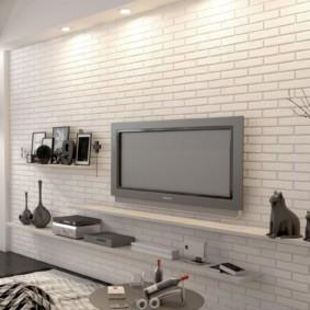 отделка квартиры под декоративный кирпич декор фото