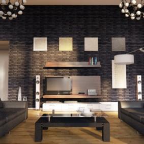 отделка квартиры под декоративный кирпич фото декора