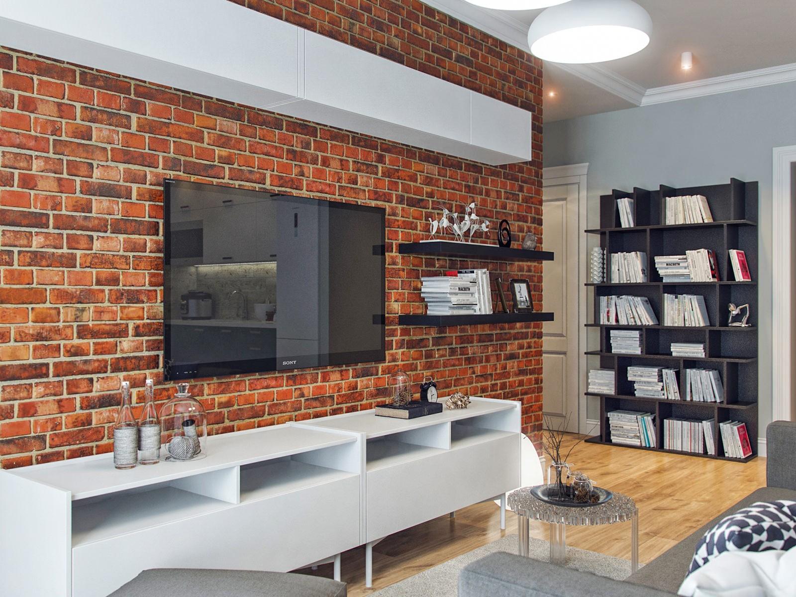 кирпич на стене в квартире фото станет гнездышком