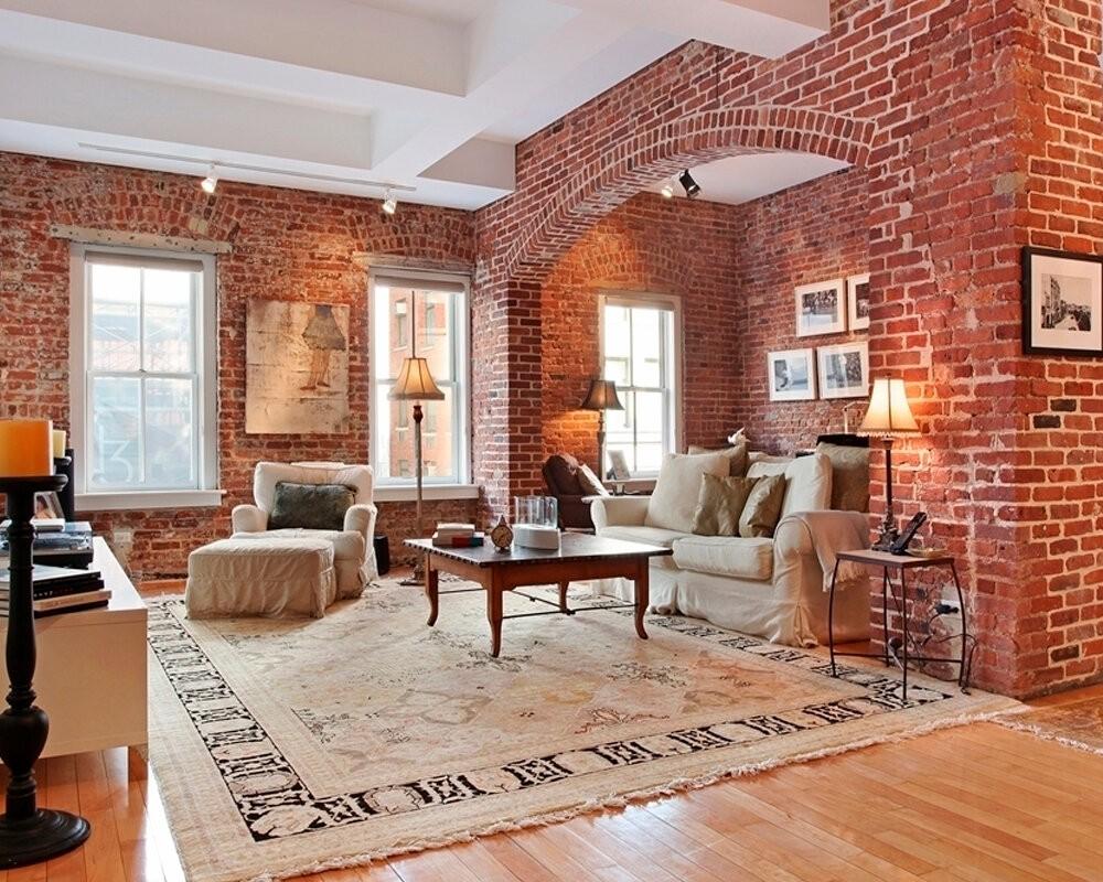 отделка квартиры под декоративный кирпич идеи декора