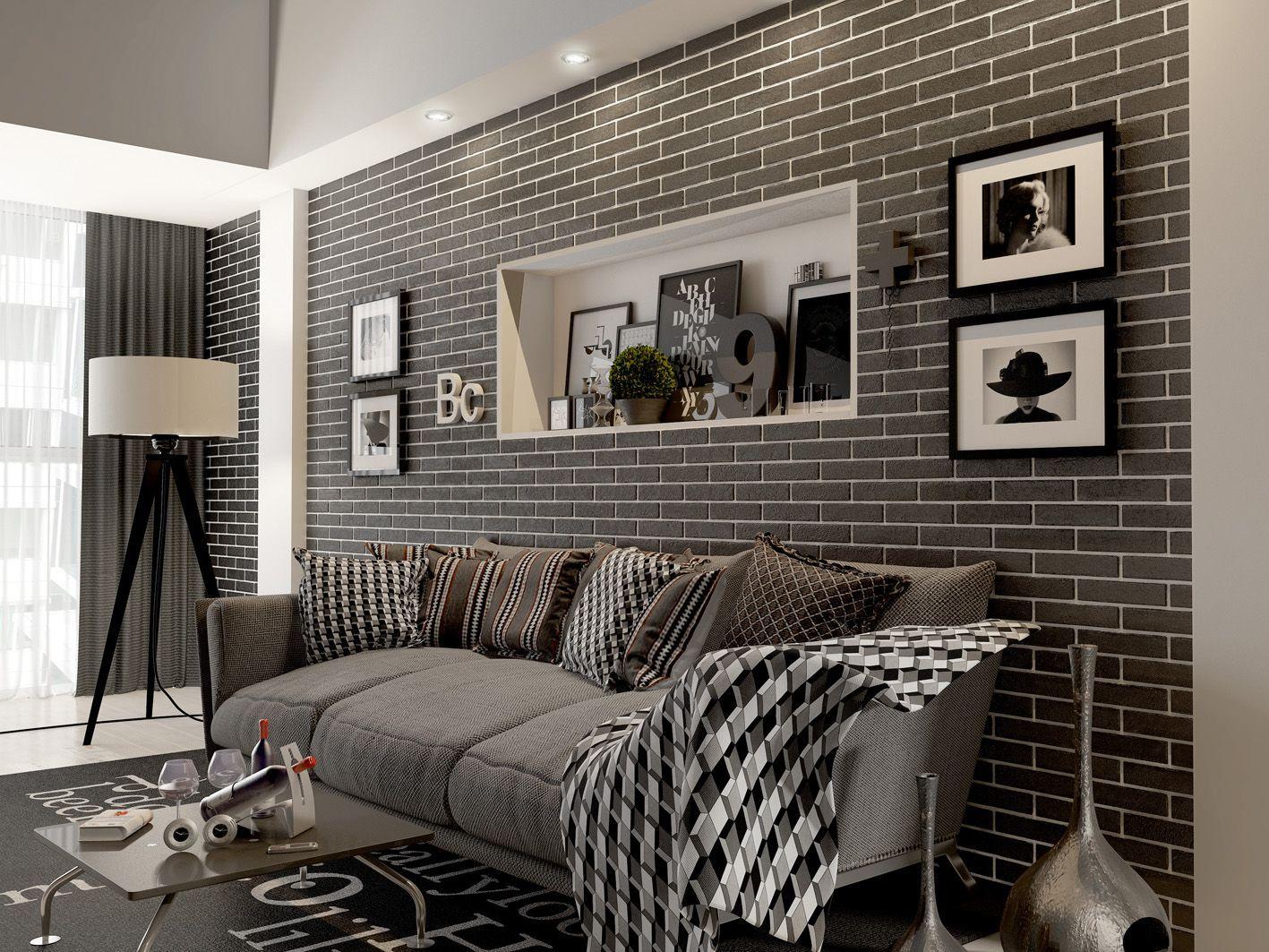отделка квартиры под декоративный кирпич идеи дизайна