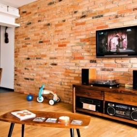 отделка квартиры под декоративный кирпич идеи интерьера