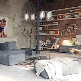 отделка квартиры под декоративный кирпич идеи вариантов