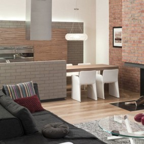 отделка квартиры под декоративный кирпич идеи варианты