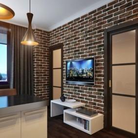 отделка квартиры под декоративный кирпич варианты