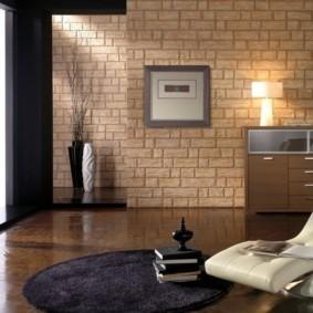 отделка квартиры под декоративный кирпич виды фото