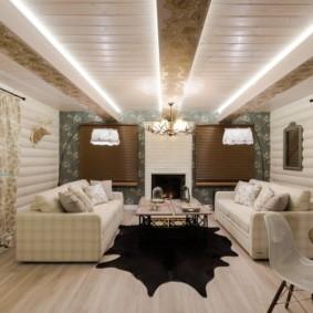 отделка потолка в квартире фото интерьер