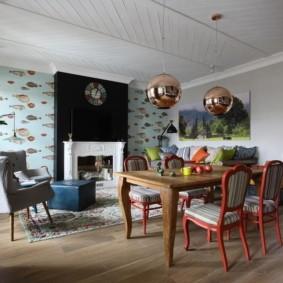 отделка потолка в квартире фото интерьера
