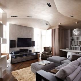 отделка потолка в квартире фото варианты