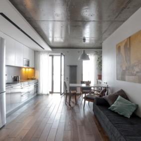 отделка потолка в квартире интерьер