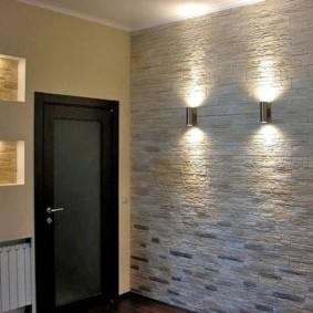 отделка стен декоративным камнем декор