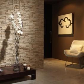 отделка стен декоративным камнем декор идеи