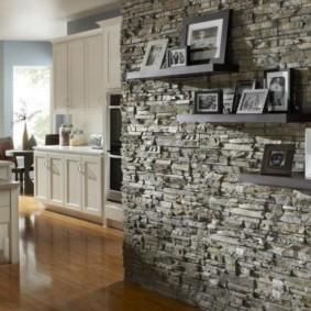 отделка стен декоративным камнем дизайн