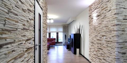 отделка стен декоративным камнем дизайн идеи
