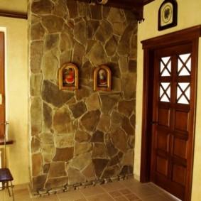 отделка стен декоративным камнем фото декора