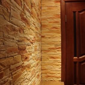 отделка стен декоративным камнем фото оформление