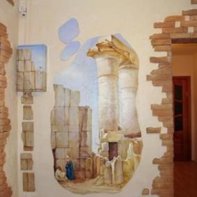 отделка стен декоративным камнем фото вариантов