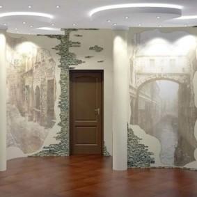 отделка стен декоративным камнем фото виды
