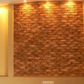 отделка стен декоративным камнем виды идеи