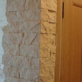 отделка углов стен в квартире интерьер фото