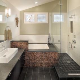 раздельная ванная комната отделка