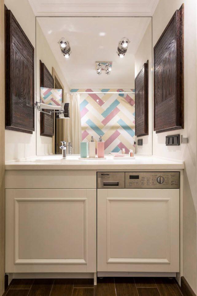 Частичная маскировка стиральной машинки в ванной