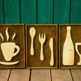 Декор для кухни из фанеры своими руками